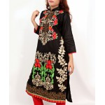 Black Embroidered Stylish Design Ladeis suit AKG-081